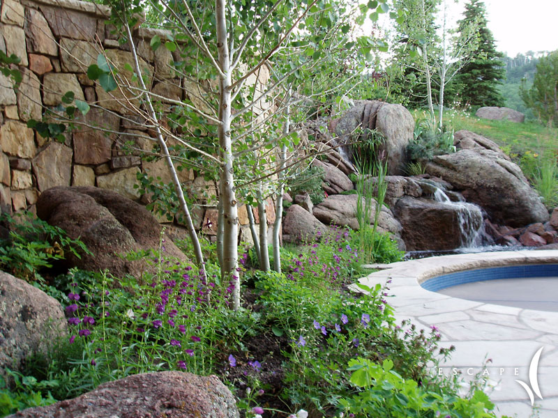 alpine mountain tranquility garden | escape garden design - garden